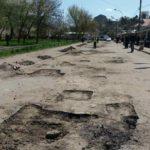 O început să repare Drumul de la Piața Villes