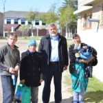 După hăinuțe pentru copii, femei, bărbați și bătrîni la Catedrala Hâncești