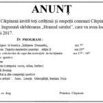 """""""Hramul Satului"""" în comuna Cărpineni pe 25 mai. Vă Invităm !"""