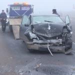 Video ! Încă un accident produs pe traseul Hîncești-Chișinău.