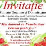 Comuna Mereșeni Vă invită respectuos la Sărbatoarea Consacrată Femeii