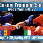 Antrenamente comune între Boxerii Hînceșteni,boxeri din Italia și România.