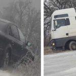 Video! Două automobile au derapat de pe șoseaua Mereșeni – Hîncești.