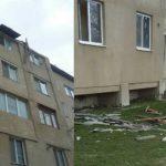 Atenție!  Cade acoperișul unui bloc de pe strada Mihalcea Hîncu din Hîncești
