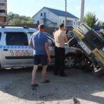 Video! Accident la Hîncești unul din automobile a ajuns în șanț