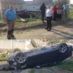 S-a inversat pe acoperișul mașinii și a deteriorat gardul unei gospodării din Hîncești.