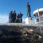 Au loc lucrări de reparație a teritoriului unde este situat monumentu G.I Cotovschi