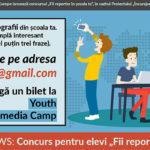 """Concurs pentru elevii din Hîncești """"Fii reporter în şcoala ta""""."""