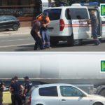 Video! Un bărbat din Hîncești a fost lovit pe trecerea de pietoni