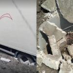 Șoferul unui automobil a deteriorat căminul de canalizare nou construit