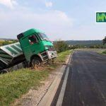 foto-video! Un camion a derapat de pe traseul Hâncești-Chișinău