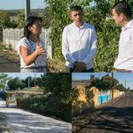 Primarul mun.Hâncești și Ministrul Economiei au inspectat lucrările din comuna Mereșeni