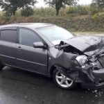 Accident în lanț pe traseul Chișinău-Hâncești, 5 automobile implicate