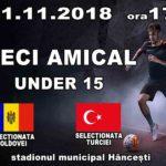 Fotbal ! Moldova – Turcia pe stadionul municipal din Hâncești