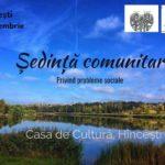 Vă invităm la Ședința Comunitară privind problemele sociale