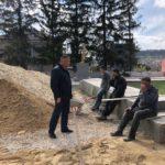 Primarul interimar Ion Ciubuc a inspectat mersul lucrărilor de reparație