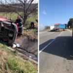 Accident pe traseul Hîncești-Chișinău ! Șoferul a fost trasportat de urgență la Spital
