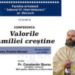 Vă invităm la Conferința – Valorile familiei creștine
