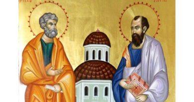 Astăzi se sărbătoresc Sfinţii Apostoli Petru și Pavel